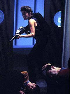 Captain Janeway being badass